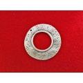 Pandantiv zamac argintat rotund 50mm