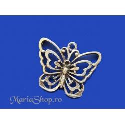 Pandantiv zamac argintat fluture 40x46mm