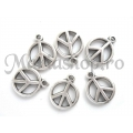 Charm zamac peace sign 2b
