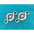 Link zamac argintat cabochon 8