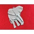 Pandantiv zamac argintat elefant 70mm