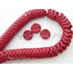 Magnezit rondele ondulate - rosu 5b