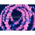 Margele rubber fucsia-bleu 6mm 20b