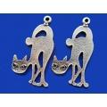 Pandantiv zamac argintat pisica 1