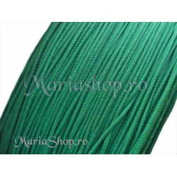 Snur matase cu guta, verde smarald - 1mm 5m