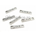 Link argintiu love 22X4.5mm x2