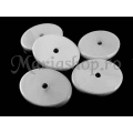 Margele acril albe oval Fl Sdf 5b