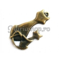 Pandantiv bronz, pisica si pisoias