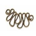 Link stilizat zamac bronz sinusoida