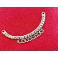Link zamac argintat colier 94x41mm