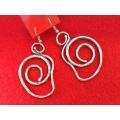 Cercei zamac spirala stilizata 10