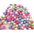 Margele acrilice multicolore Mpct 5mm 50b