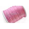 Snur satin roz intens 1mm 5m